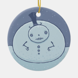 Pudgy Snowman Ornament