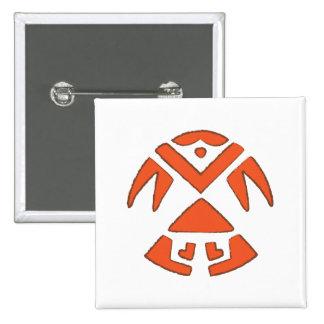 Pueblo Bird - Southwest Indian Design Button