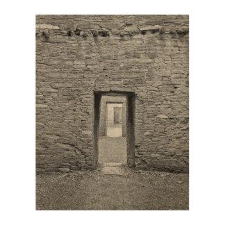 Pueblo Bonita Doorway Wood Wall Art