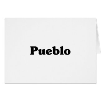 Pueblo  Classic t shirts Greeting Card