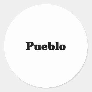 Pueblo  Classic t shirts Sticker