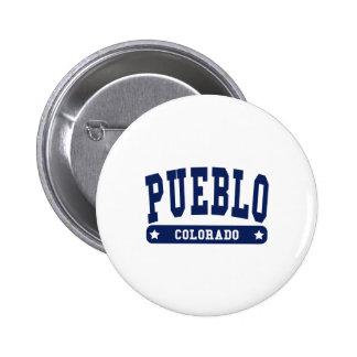 Pueblo Colorado College Style tee shirts Pin