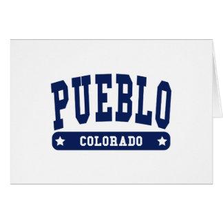 Pueblo Colorado College Style tee shirts Greeting Card
