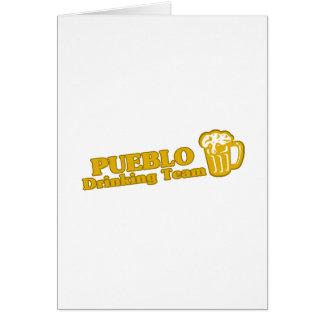 Pueblo Drinking Team tee shirts Greeting Cards