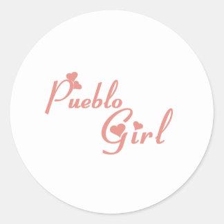 Pueblo Girl tee shirts Stickers