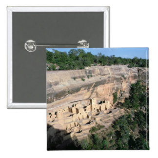 Pueblo Indian cliff dwellings 15 Cm Square Badge