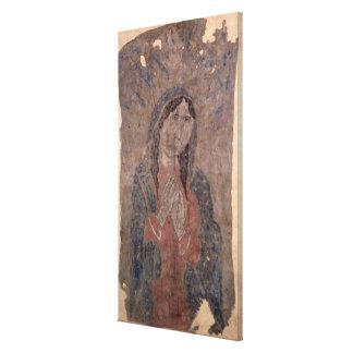 Pueblo Indian hide Painting of a Madonna, 1675 Canvas Print