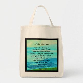 Pueblo Indian prayer Grocery Tote Bag