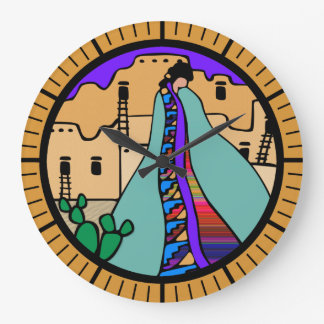 Pueblo Native American Southwest Design Clock