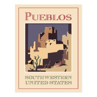 Pueblos Southwest Postcard