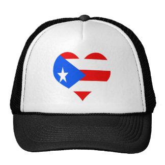 puerot rican heart trucker hat