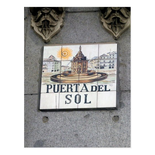 Puerta del Sol - Madrid, Spain Postcard