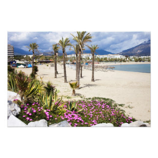 Puerto Banus Beach on Costa del Sol in Spain Photo Print
