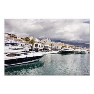 Puerto Banus Marina in Spain Art Photo