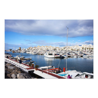 Puerto Banus Marina on Costa del Sol in Spain Photo Print