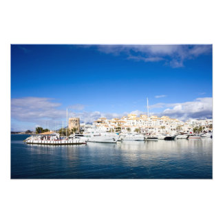 Puerto Banus Marina on Costa del Sol in Spain Photographic Print