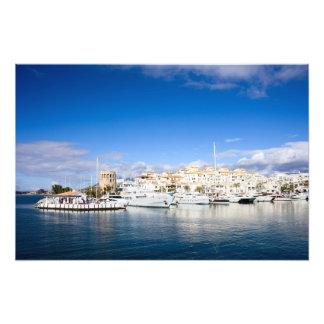 Puerto Banus Marina on Costa del Sol in Spain Photographic Print