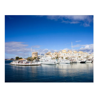 Puerto Banus Marina on Costa del Sol in Spain Postcard