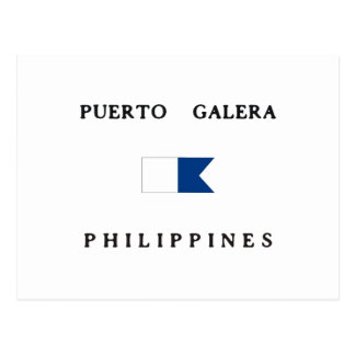 Puerto Galera Philippines Alpha Dive Flag Postcard