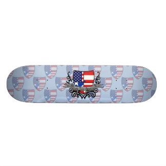 Puerto Rican-American Shield Flag Skateboard Decks