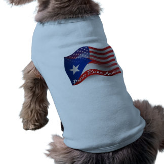 Puerto Rican-American Waving Flag Shirt