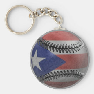 Puerto Rican Baseball Key Ring