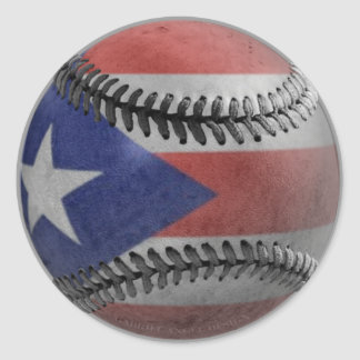 Puerto Rican Baseball Round Sticker