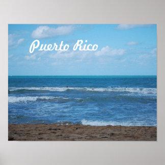 Puerto Rican Beach Poster