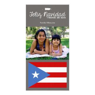 Puerto Rican Christmas Feliz Navidad Photo Greeting Card