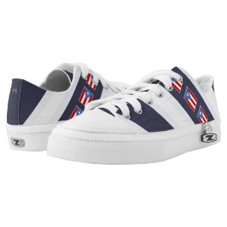 Puerto Rican Flag: Classic Low Tops