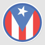 Puerto Rican Flag Classic Round Sticker