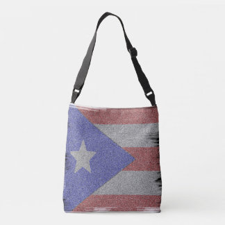 Puerto Rican Flag Crossbody Bag
