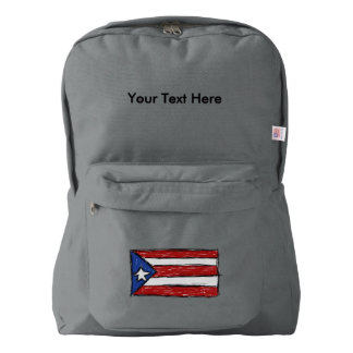 Puerto Rican Flag Drawing Backpack