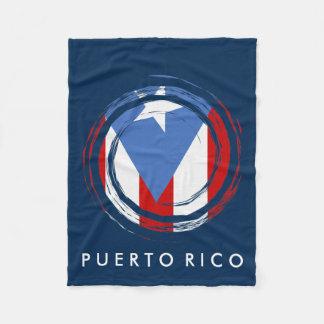 Puerto Rican Flag Fleece Blanket