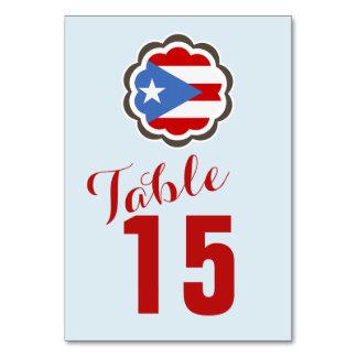 Puerto Rican Flag Flower Card