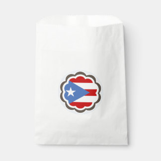 Puerto Rican Flag Flower Favour Bags