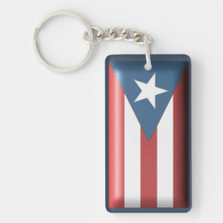 Puerto Rican Flag Key Chain