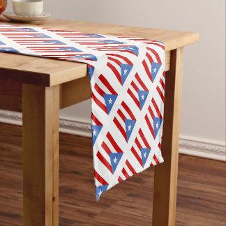 Puerto Rican Flag Print Short Table Runner