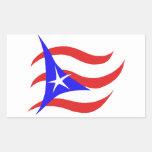 Puerto Rican Flag Rectangular Stickers