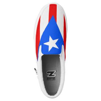 Puerto Rican Flag Slip On Sneaker Shoe Printed Shoes