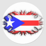 Puerto Rican Flag - Tribal Sticker