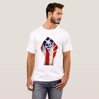 Puerto Rican Flag with Grunge Fist, 2017 T-Shirt