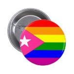 Puerto Rican Gay Pride Flag 6 Cm Round Badge
