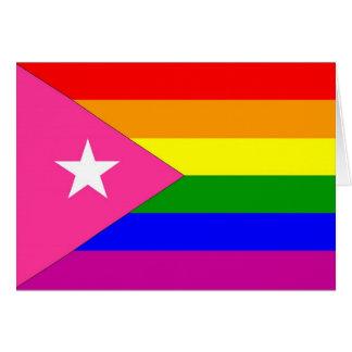 Puerto Rican Gay Pride Flag Cards