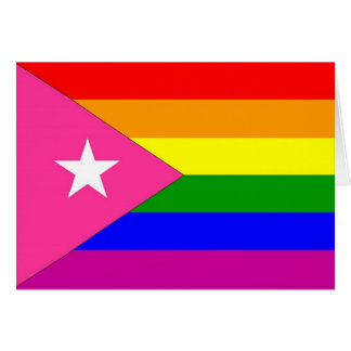 Puerto Rican Gay Pride Flag Greeting Card