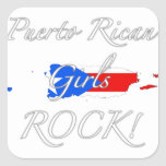 Puerto Rican Girls Rock! Square Stickers