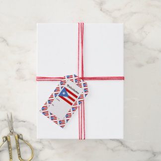 Puerto Rican Patriot Flag Gift Tags