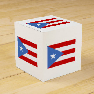 Puerto Rican Patriotic Flag Favour Box