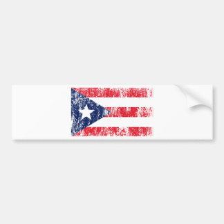 Puerto Rican Pride Flag Car Bumper Sticker