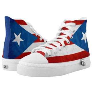 Puerto Rican Pride Grunge Flag High Tops